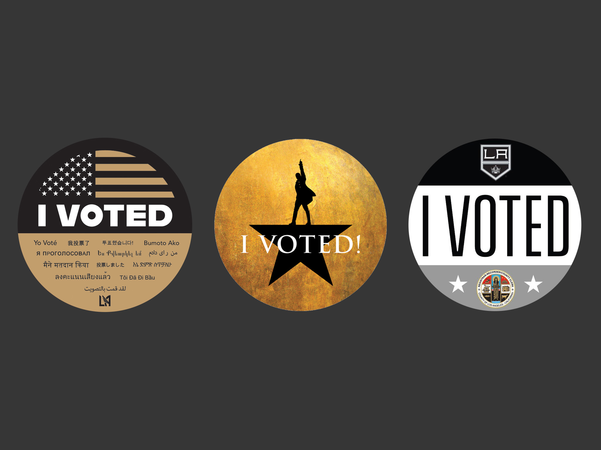 "Need another reason to vote? How about these custom ""I Voted"" stickers from L.A. landmarks."