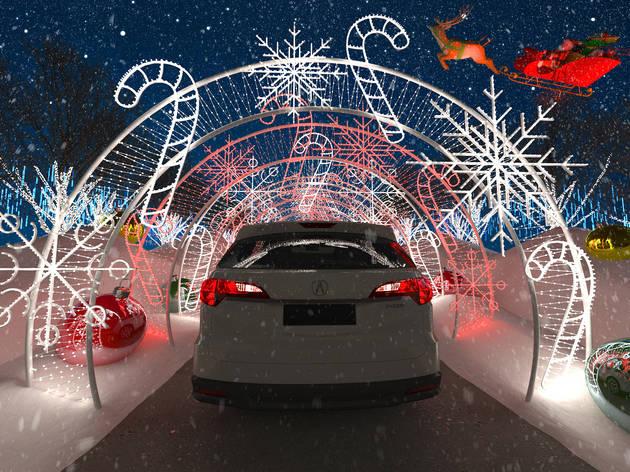 WonderLAnd holiday drive thru experience los angeles