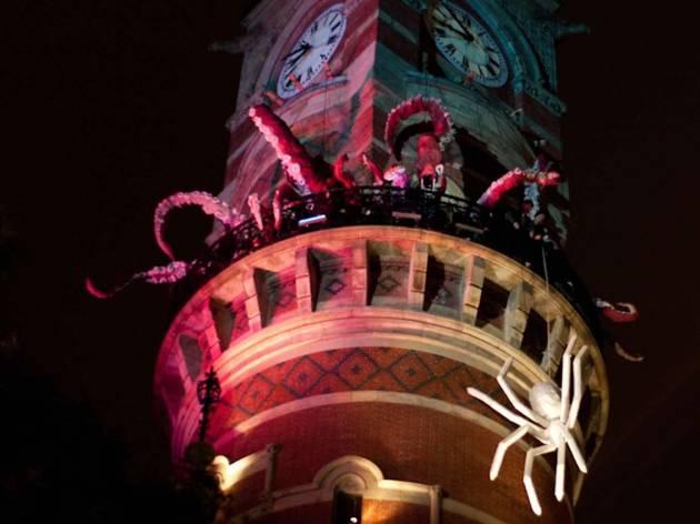Basil Twist spider Jefferson Market Library Tower