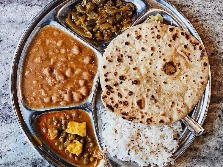 The $7.75 thali plates at Pushap