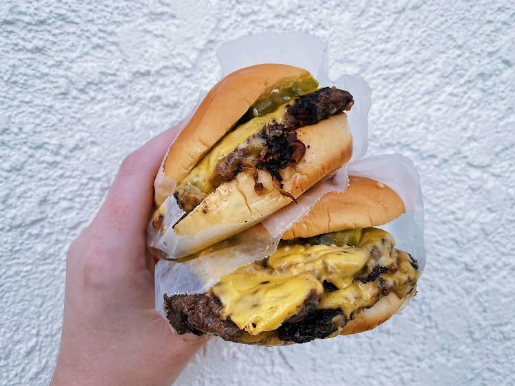 Smashburgers at the Win-dow at American Beauty