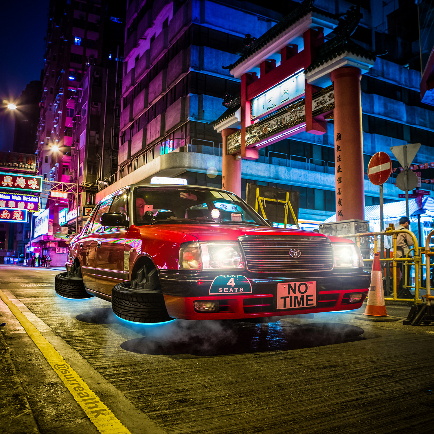 Tommy Fung/@surrealhk - Flying Taxi Temple Street s1500