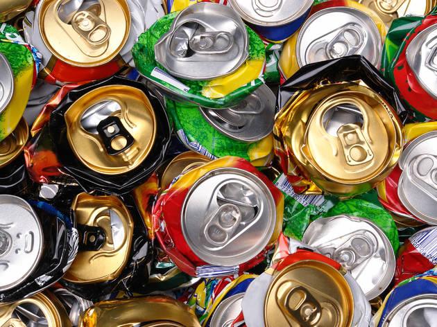 Latas para reciclar