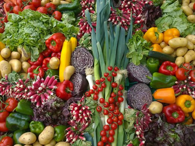 Mercado Municipal de Productores Planetario. Vegetales y hortalizas