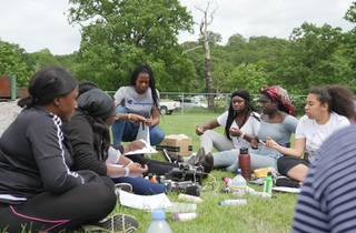 black girls camping trip
