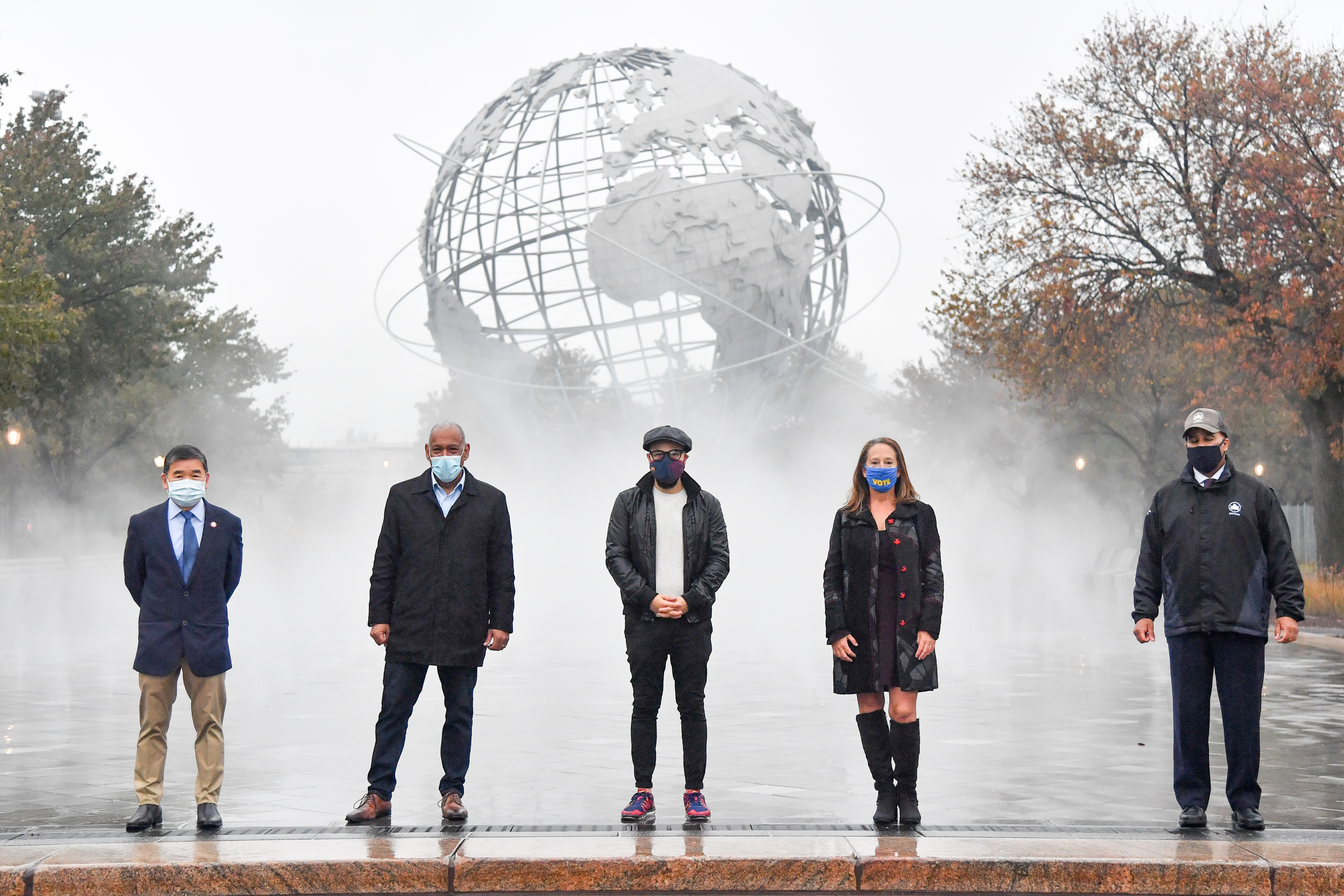 See the new misting plaza at Flushing Meadows Corona Park