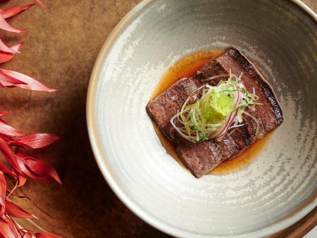 Beefbar short rib tataki in ponzu