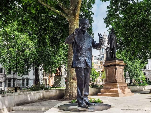 nelson mandela, statue, black history, black history london