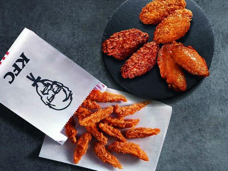 KFC:秘製蝦醬雞翼