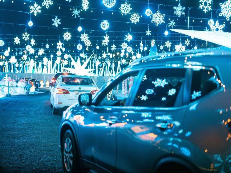 Visit Illumi, the massive drive-thru light show