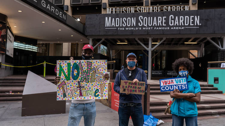 Nyc madison square garden election voting