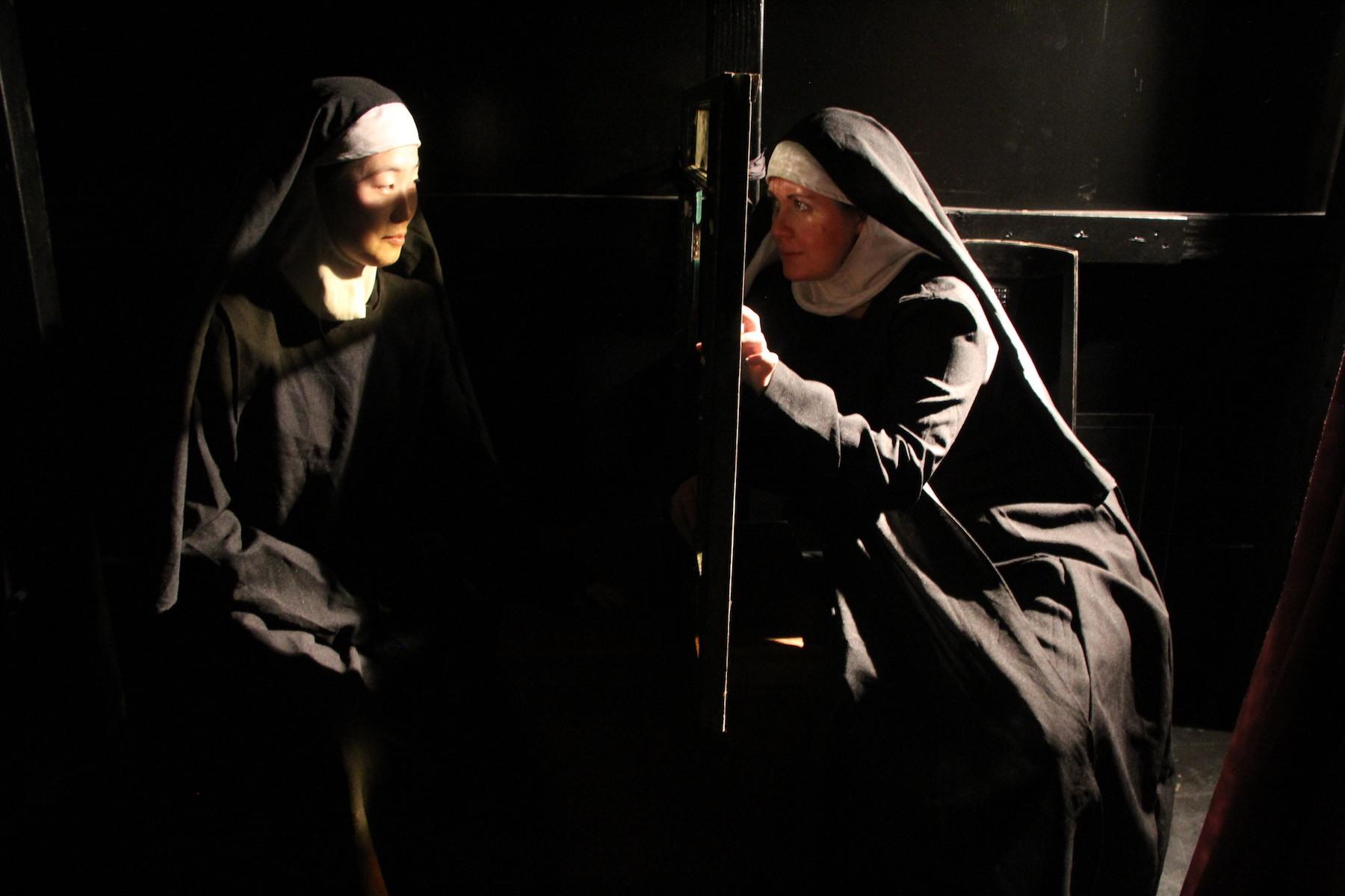 Two nuns talk in Luna Eclipse