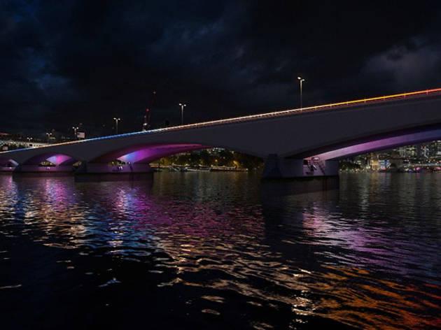 Illuminated River artwork for Waterloo Bridge © Leo Villareal Studio
