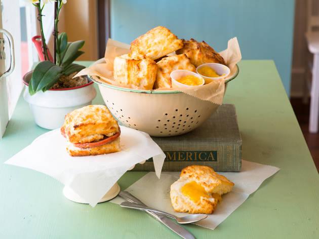 Early Bird Biscuit Co. ham biscuit