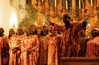 The Central Australian Aboriginal Women's Choir performing in Germany