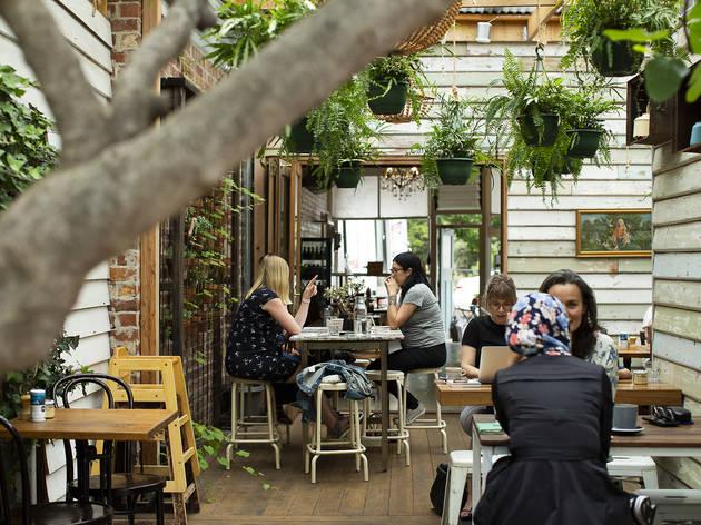 Fig and Walnut Seddon outdoor seating