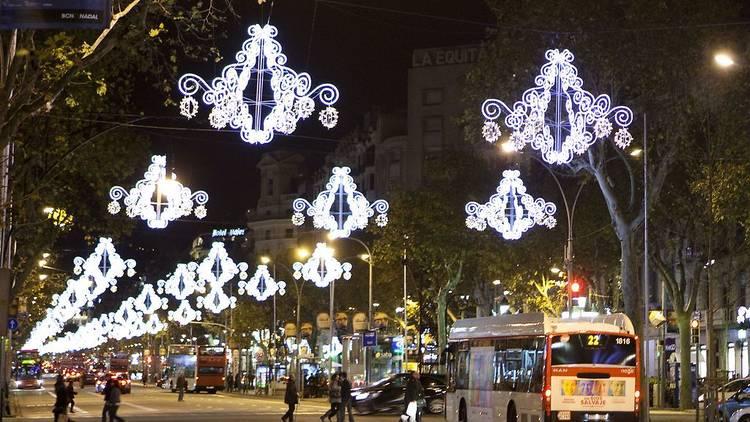 Llums de Nadal a passeig de Gràcia