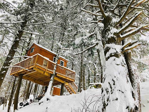 Treehouse, Home and Spa Trio in West Brome, Québec