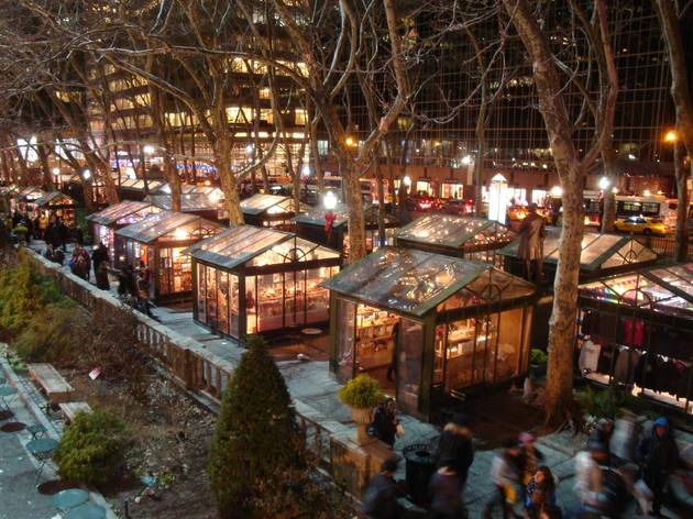 nyc holiday market, Bryant Park Winter Village