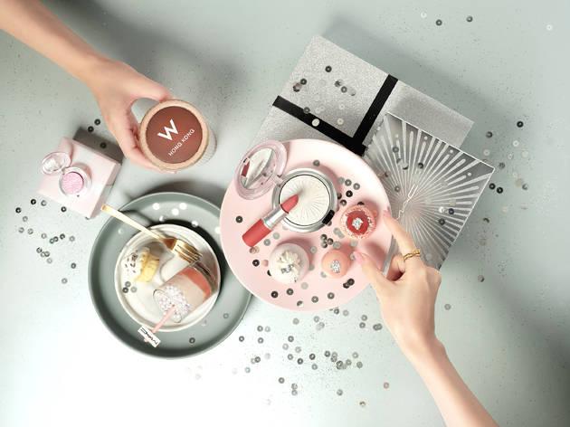 Woobar x M.A.C Glittery Flare afternoon tea set