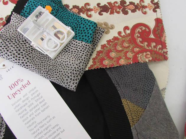 Guia upcycling e kit de costura