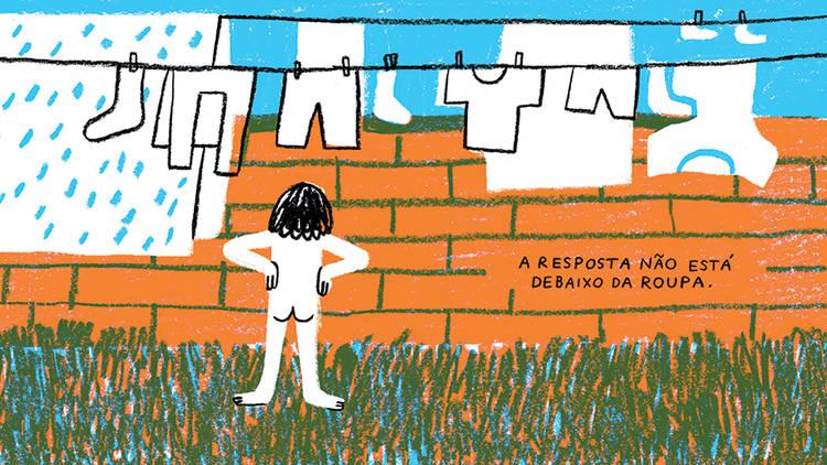 Livro, Menino, Menina, Ilustração, Joana Estrela