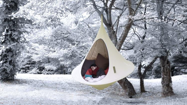 hibernation pod, forest nap, Karuizawa