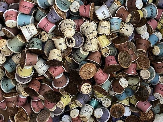 Used coffee pods