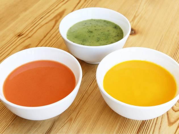 Cremes de verdures del restaurant Sopa