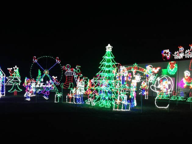 holiday lights drive-thru
