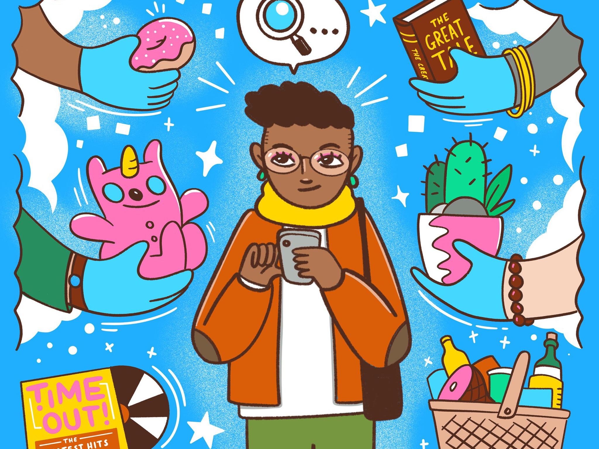 De compras navideñas por tiendas locales