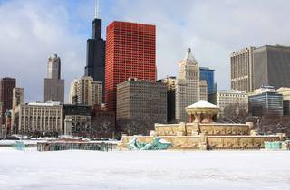 Chicago winter Buckingham Fountain