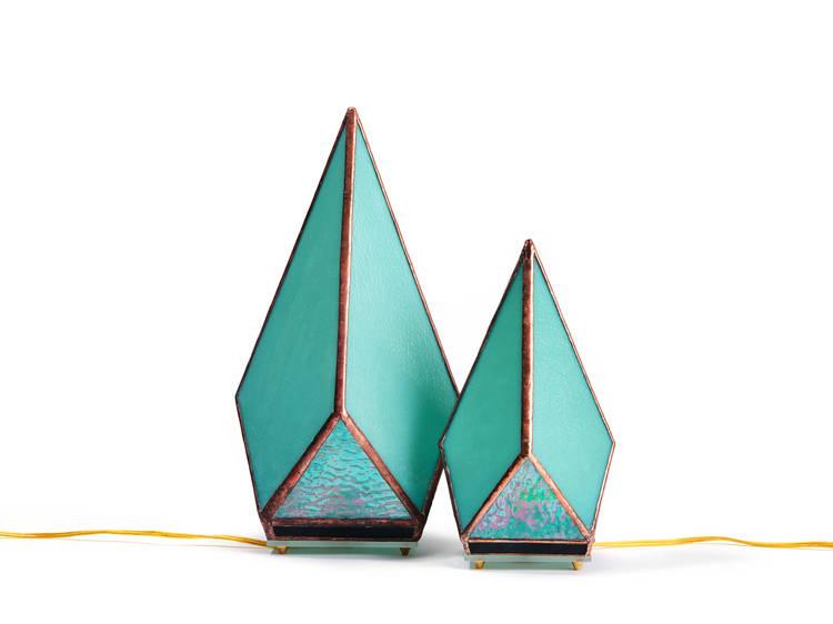 Tabletop Greta Jade Green lamp