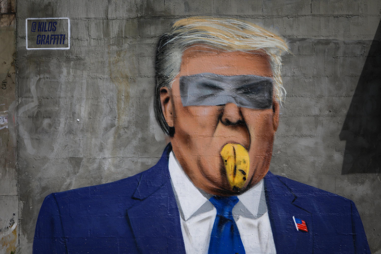 Trump por Kilos Graffiti
