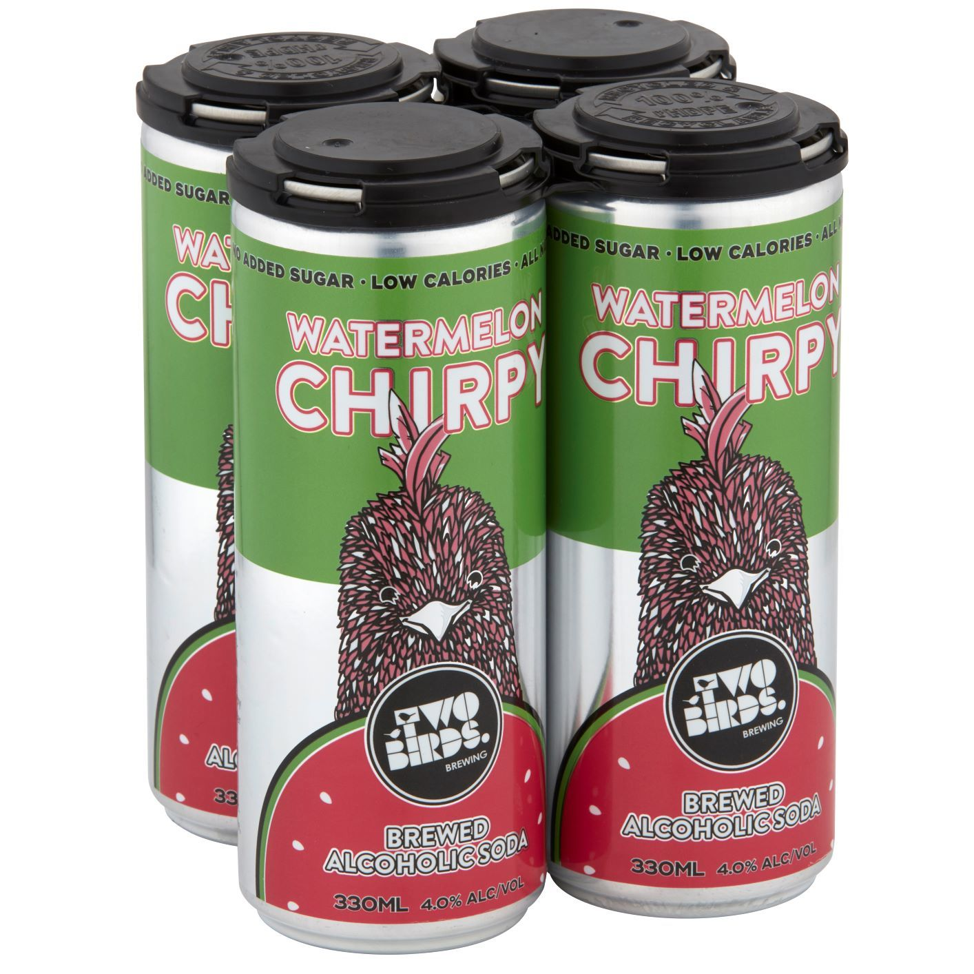Four Watermelon Chirpy alcoholic sodas