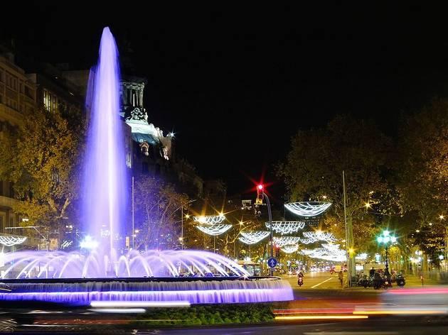 Enllumenat de Nadal a la Gran Via de Barcelona