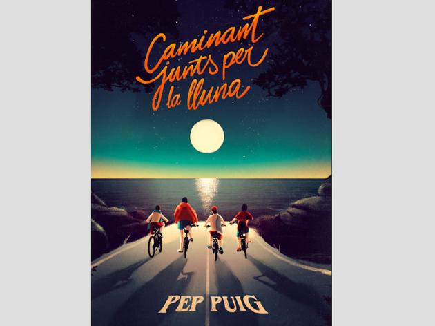 Portada de Caminant junts per la lluna, de Pep Puig
