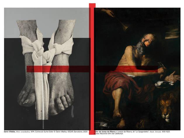 Darío Villalba. 'Pies vendados', 1974. Col·lecció Suñol Soler / Taller de Josep de Ribera. Sant Jeroni. 1618-1625. MNAC