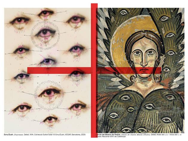 Evru/Zush. 'Zeyemax', 1974. Col·lecció Suñol Soler / Cercle del Mestre de Pedret. 'Absis de Santa Maria d'Àneu'.  S. XI-XX. MNAC
