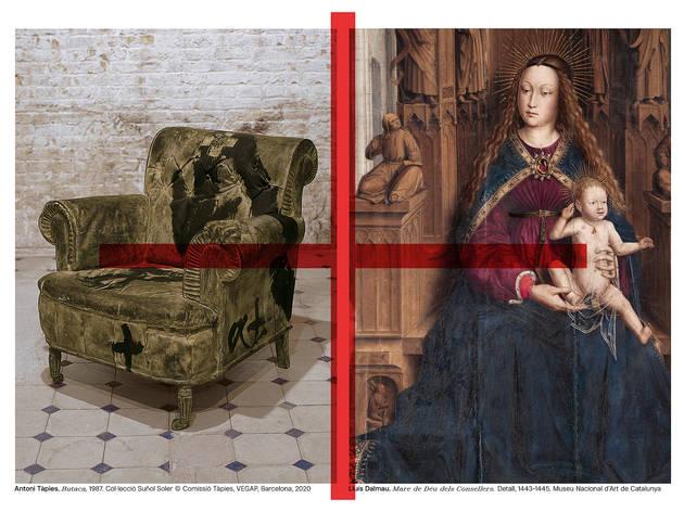 Antoni Tàpies. 'Butaca', 1987. Col·lecció Suñol Soler / Lluís Dalmau. 'Mare de Déu dels Consellers'. 1443-1445. MNAC