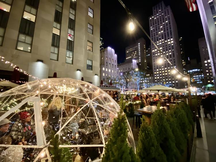 Rent a private igloos from City Winery at Rockefeller Center
