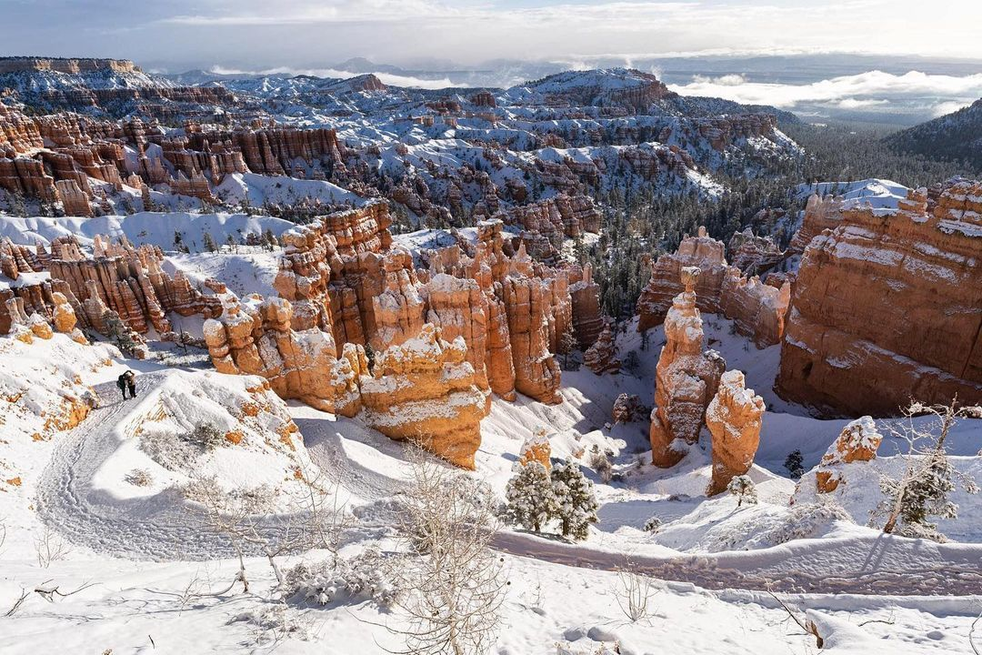 You need to see these gorgeous photos of National Parks covered in snow right now