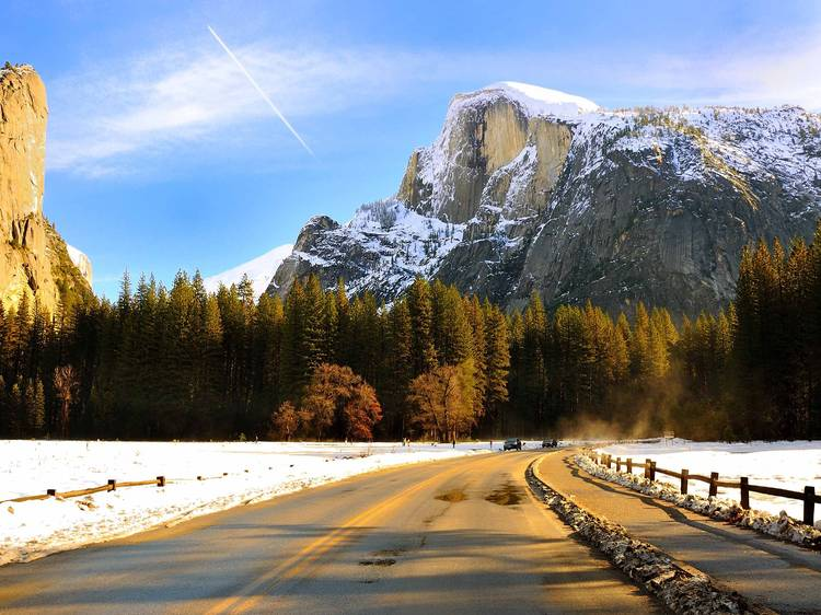 Best view from the ice skating rink: Yosemite, CA