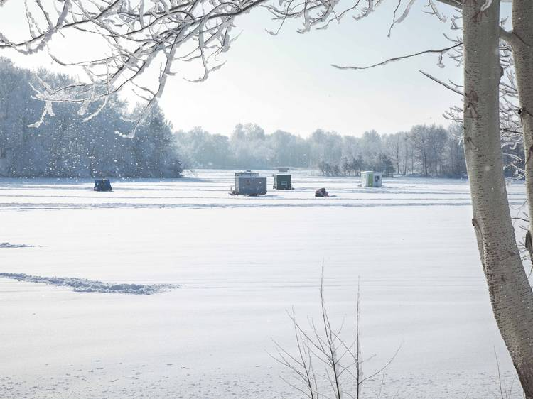 Best lake to try ice fishing: Lake of the Woods, MN