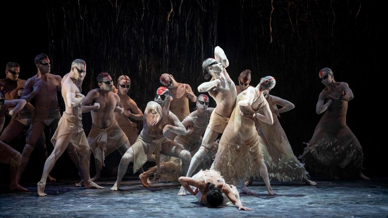 Aboriginal Australian dancers from Bangarra Dance Theatre