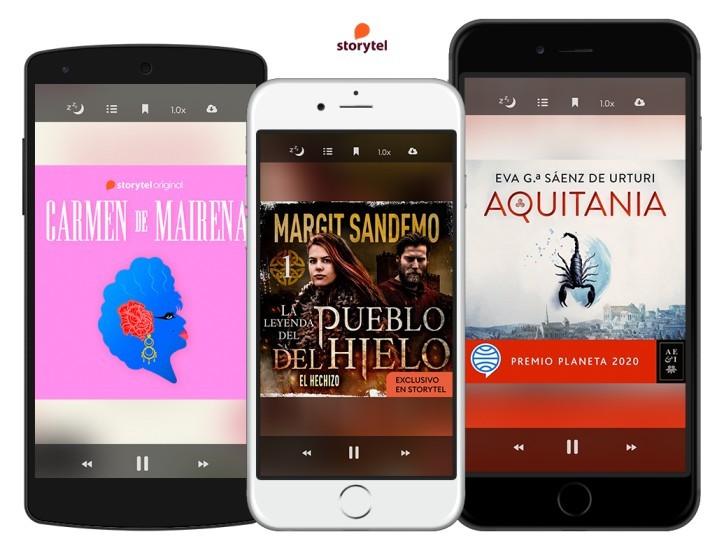 Plataforma de audiolibros Storytel