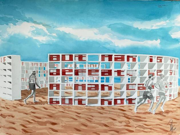 Dreaming With Lions by Alexandre Arrechea at Faena Art