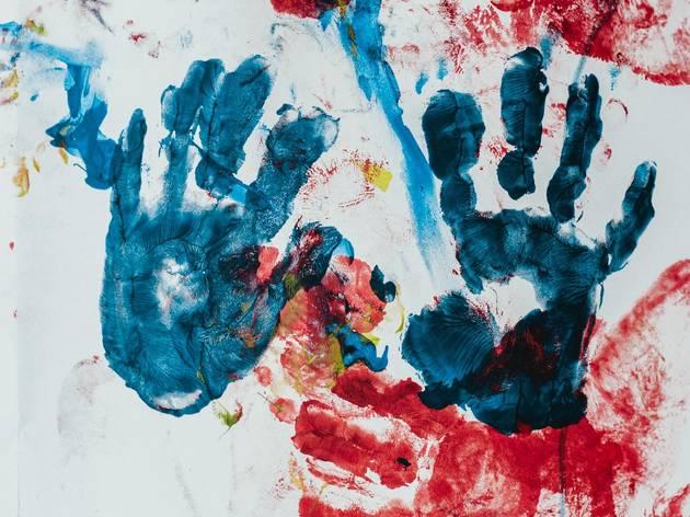 kids, painting