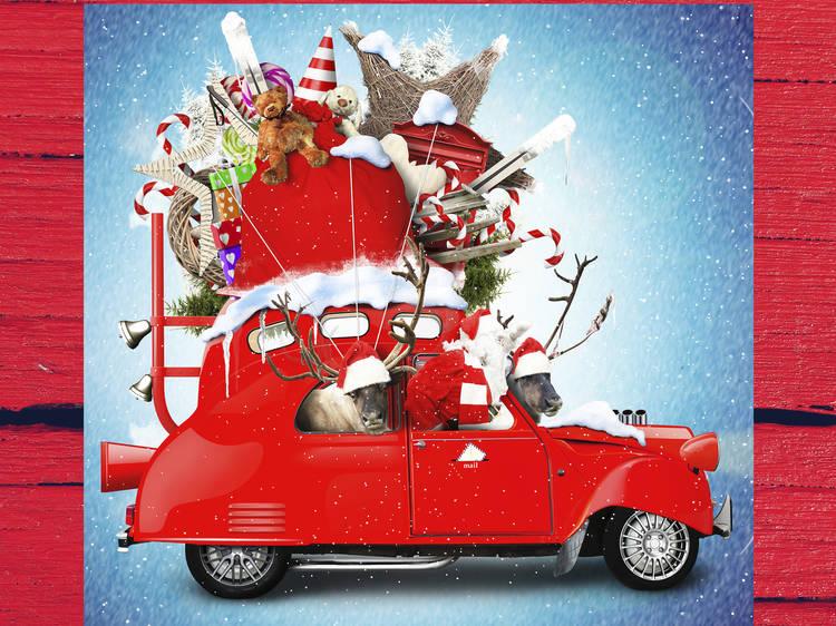 Santa's Drive-Thru Village