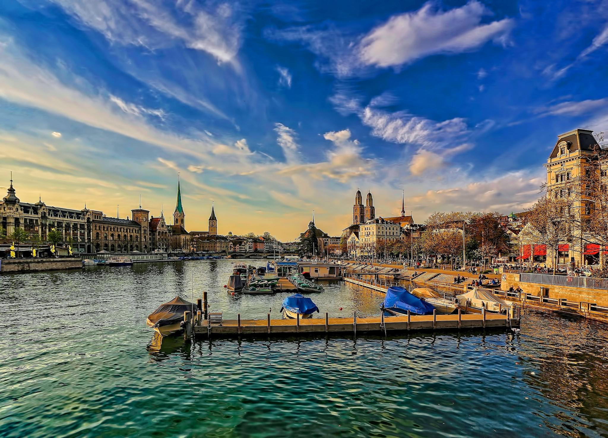 The waterfront at Zurich.